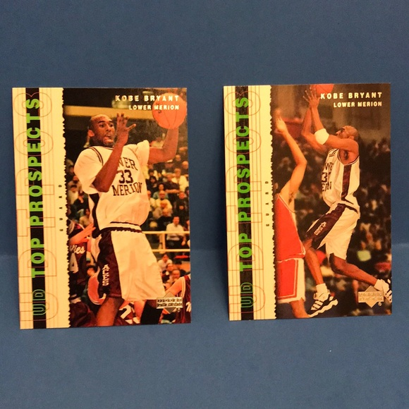 Two Kobe Bryant rookie cards